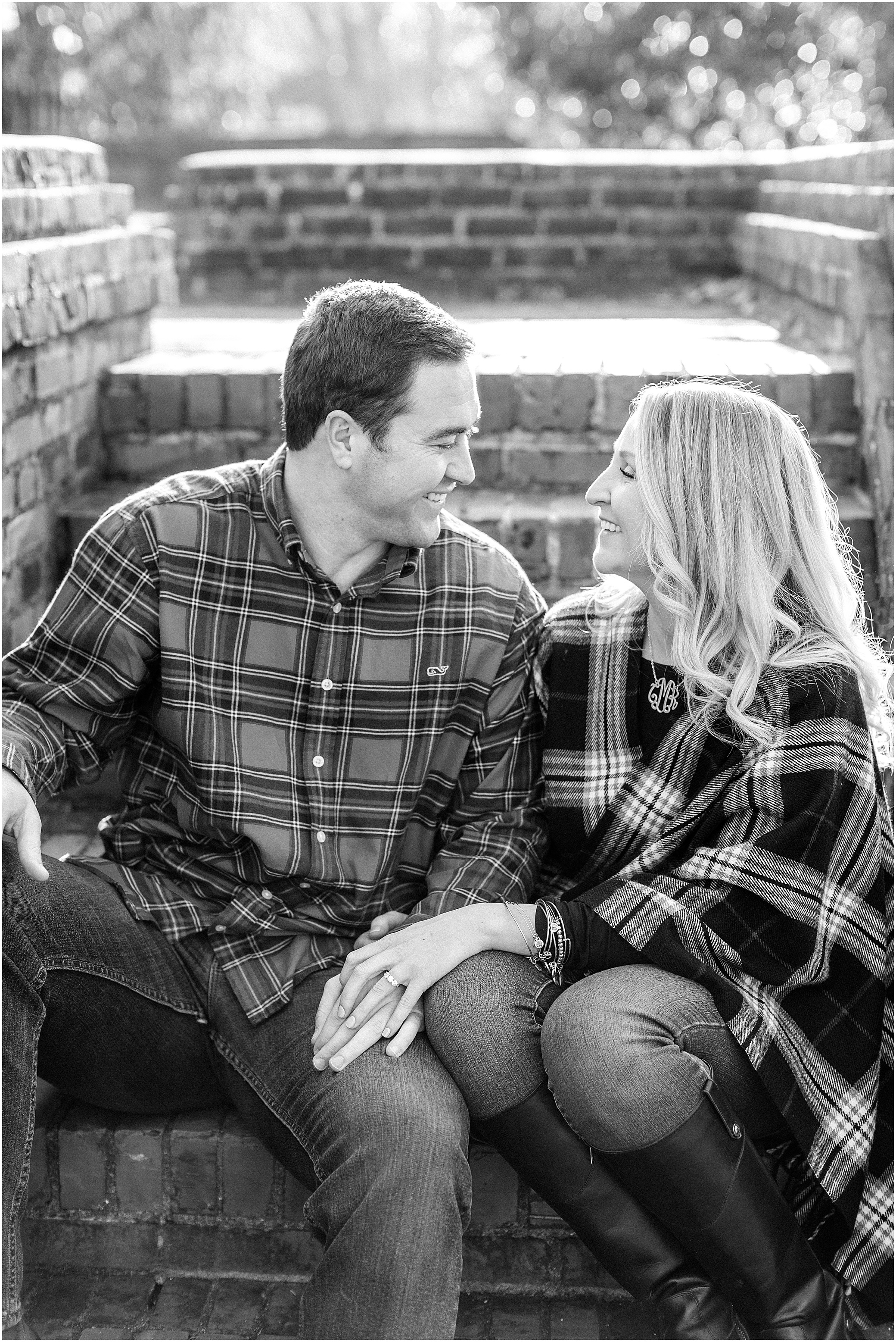 historic Yorktown engagement photography, candid engagement photography