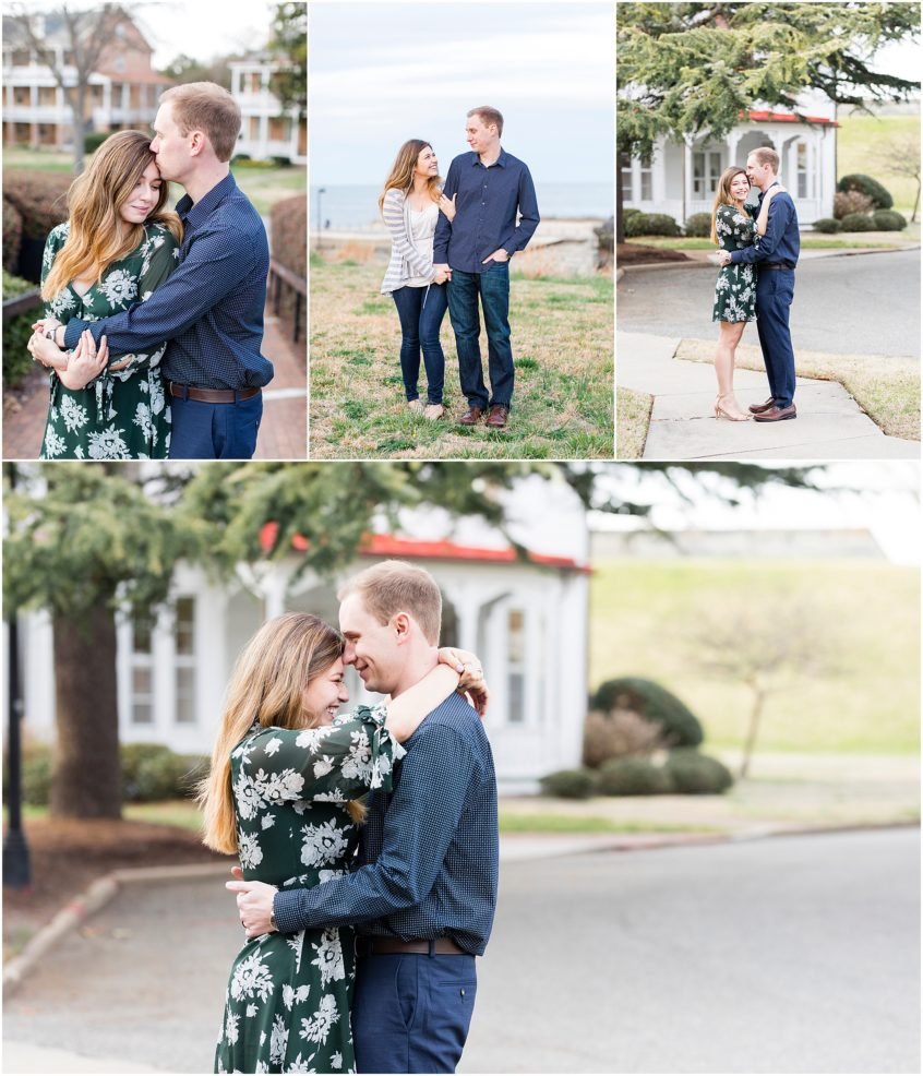 Fort Monroe Anniversary Portraits, couple walking
