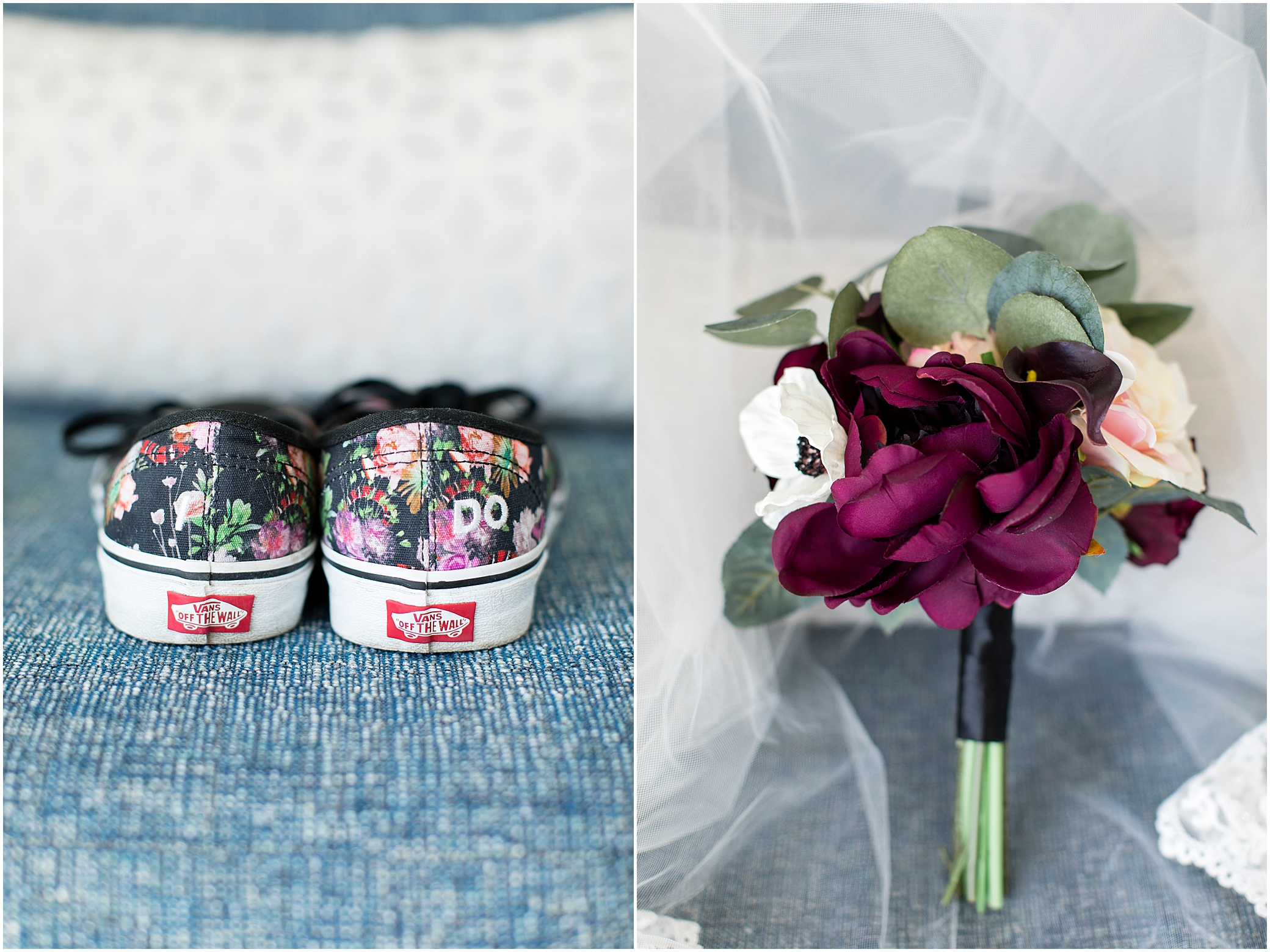 hermitage museum and gardens elopement wedding details vans bridal shoes