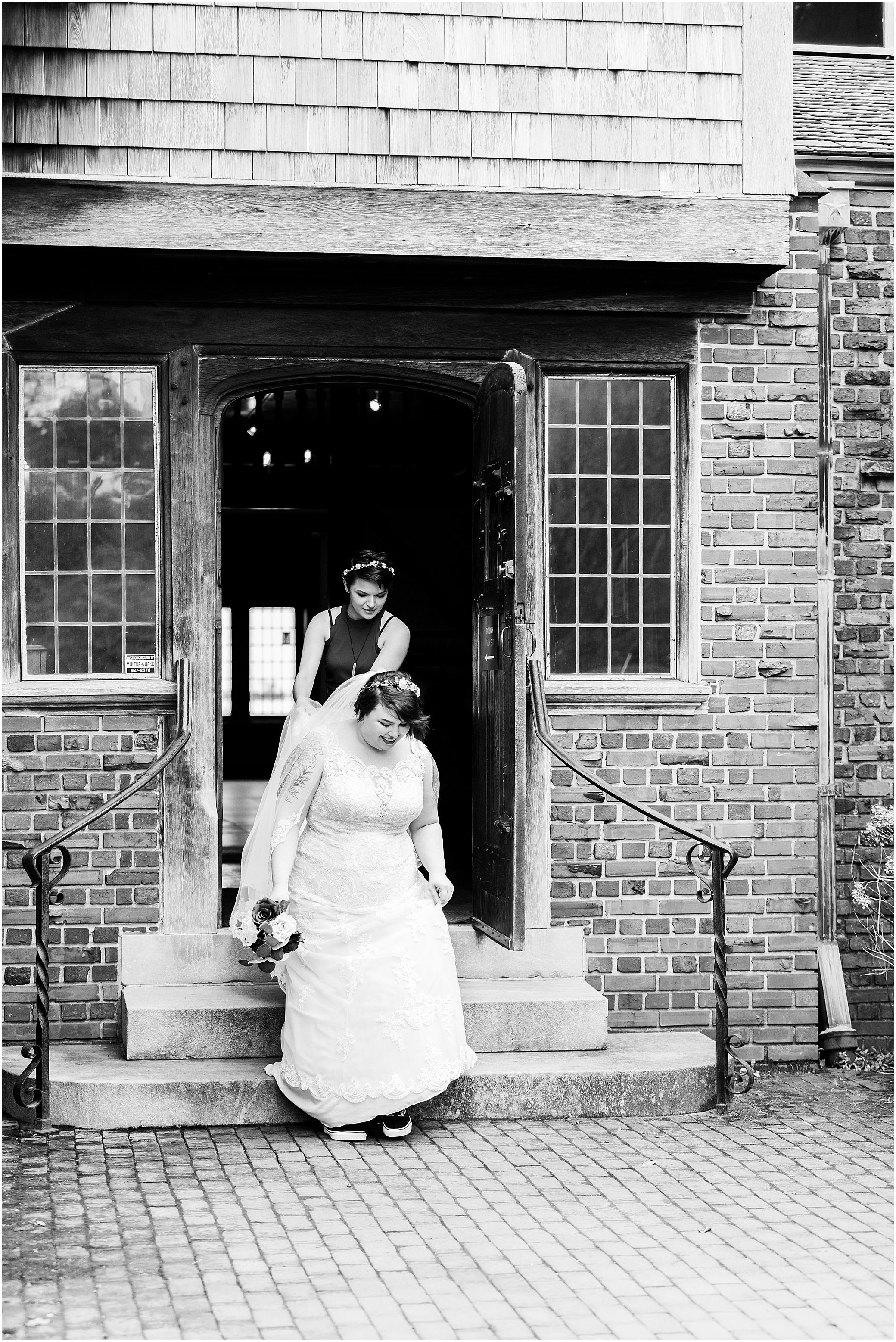 hermitage museum and gardens elopement, studio i do wedding dress, intimate wedding ceremony at the hermitage museum and gardens