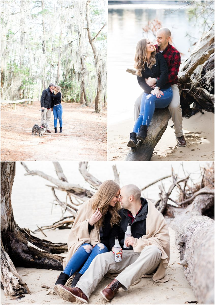 Virginia state park engagement, first landing state park engagement photography
