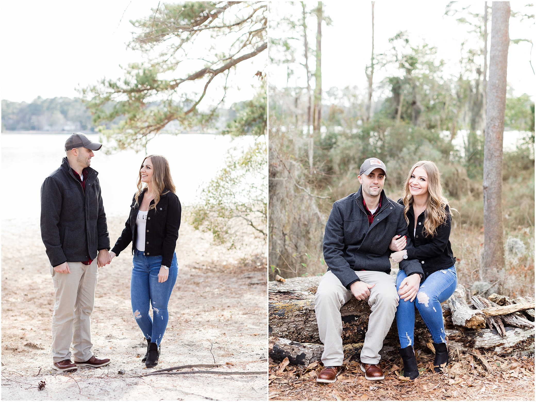 Virginia state park engagement, first landing state park engagement photography, jessica ryan photography