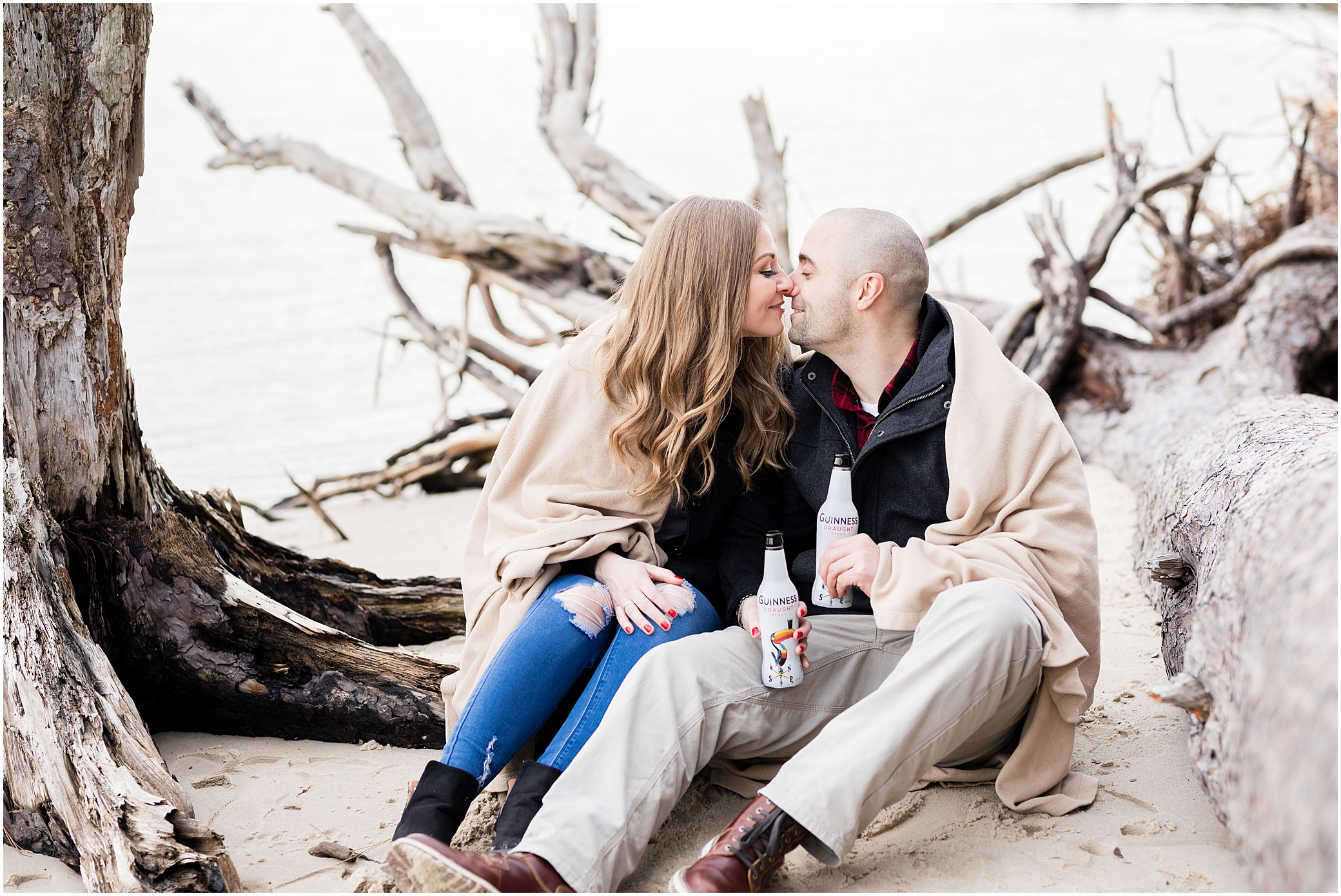 Virginia state park engagement, first landing state park engagement photography, virginia beach
