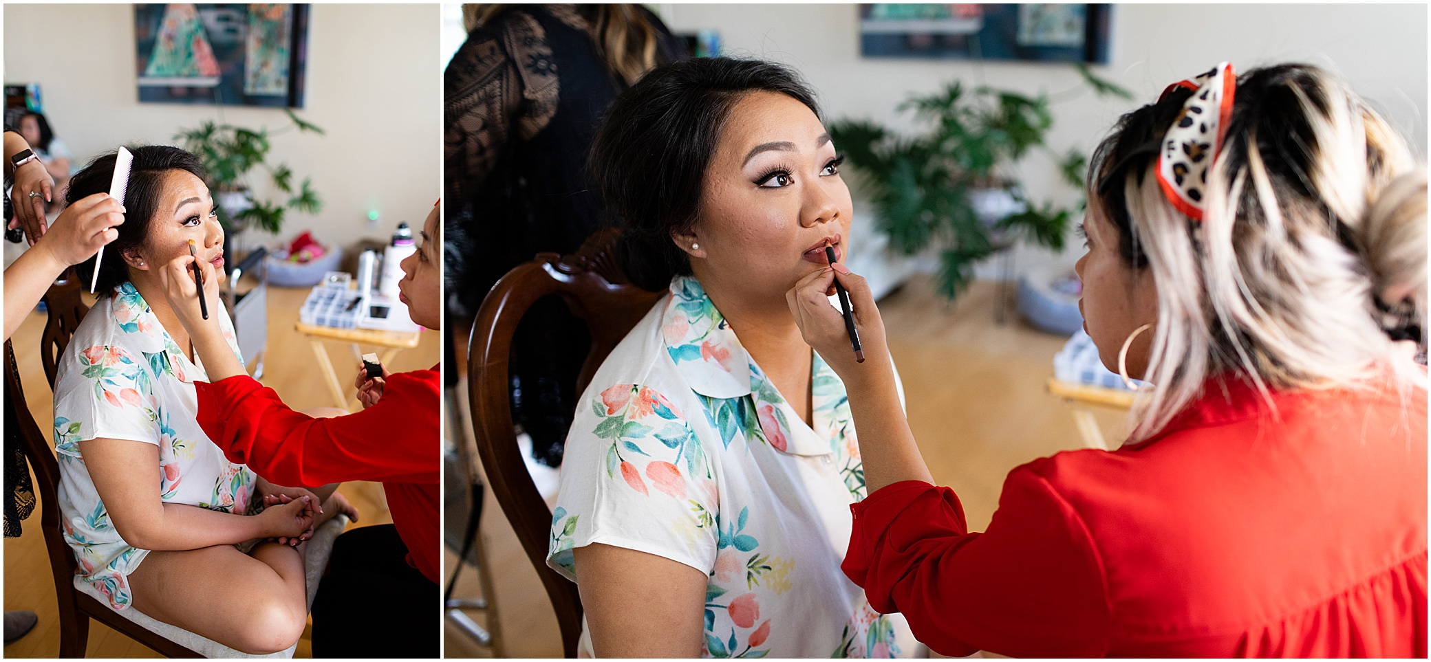 spring wedding at the hermitage museum and gardens, Jessica Ryan photography, the makeup school