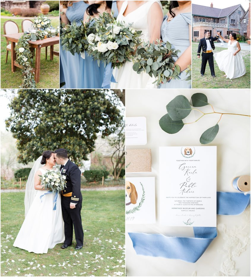 Spring wedding at the Hermitage Museum and Gardens