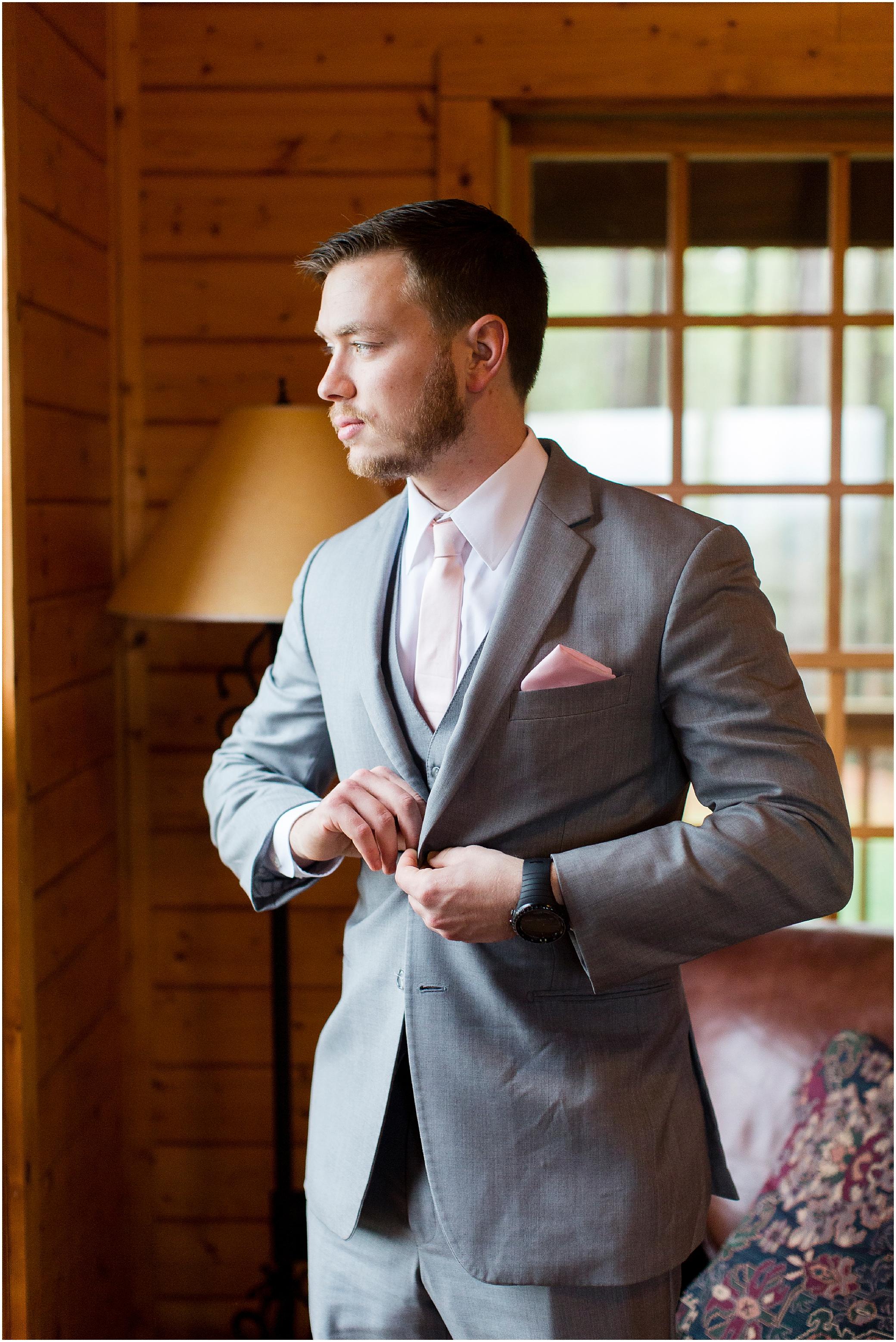 groom getting ready at Sierra Vista Wedding