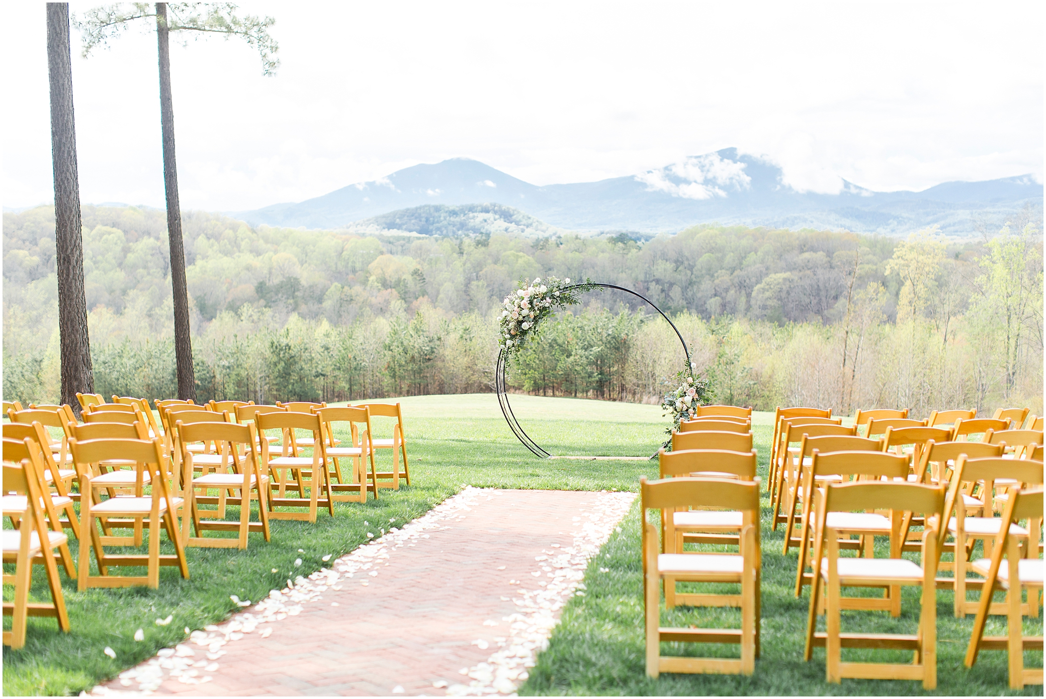 spring wedding ceremony at a wedding at sierra vista, a little party events