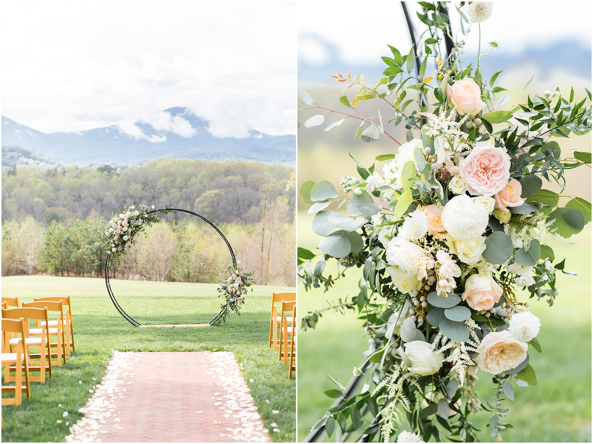 spring wedding ceremony at a wedding at sierra vista, bloom by doyle's