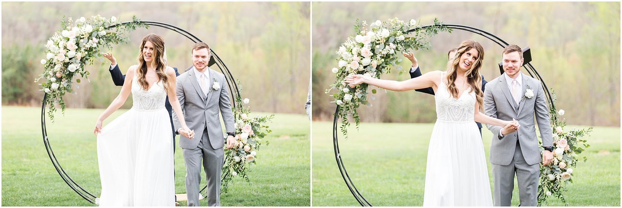 spring wedding ceremony at a wedding at sierra vista