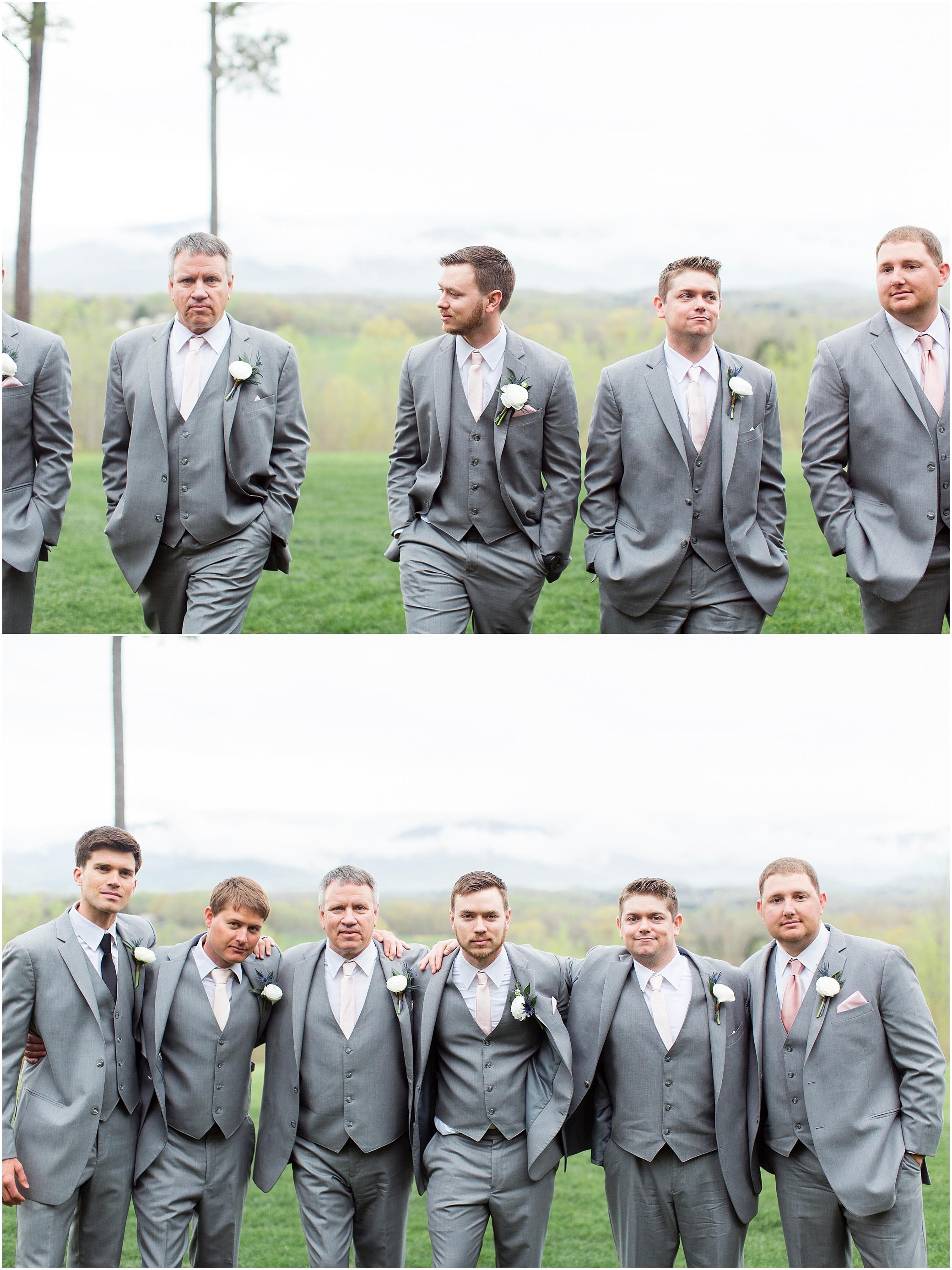 groomsmen portrait at sierra vista wedding