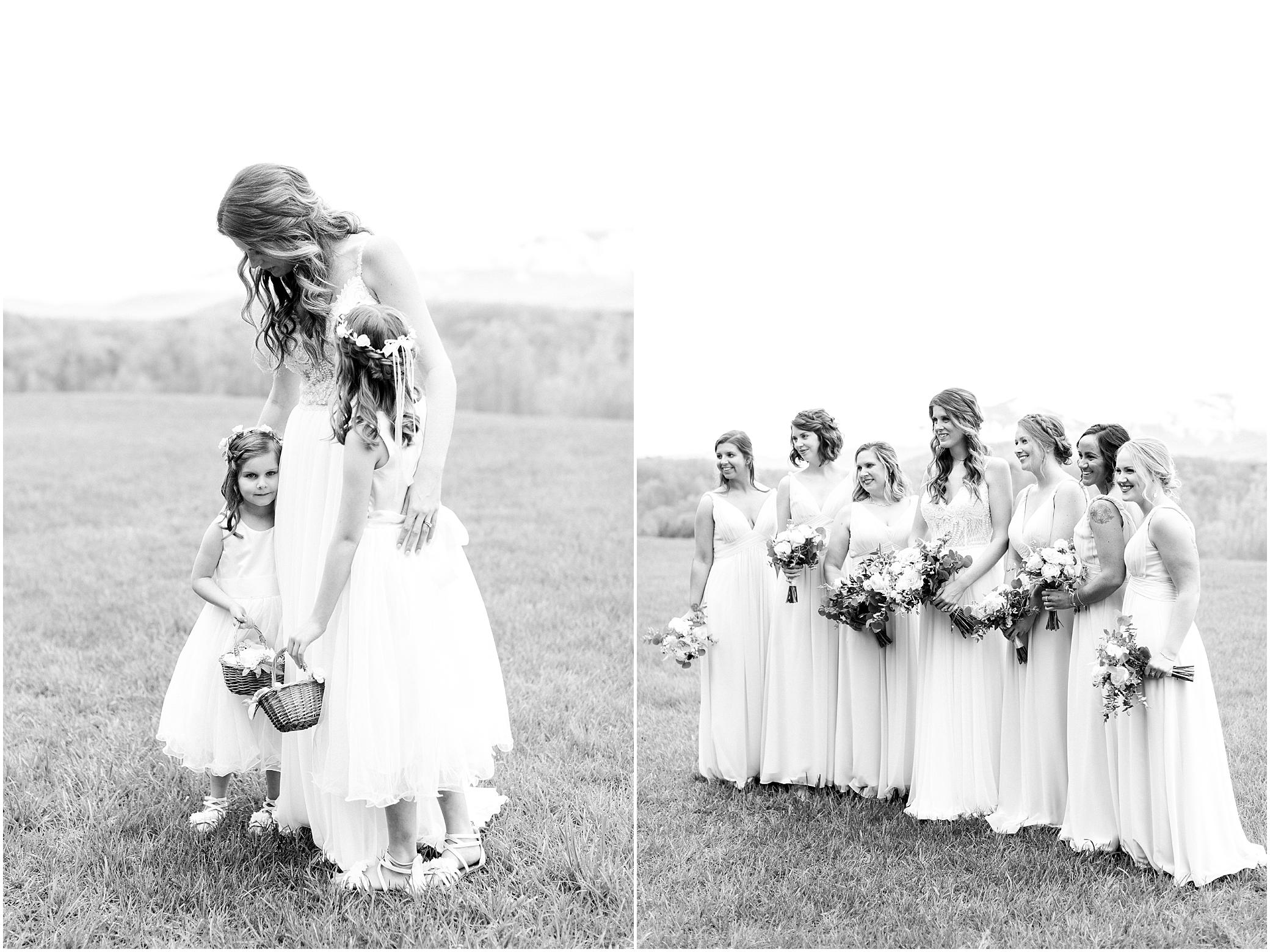bridesmaids portrait with bride at sierra vista wedding