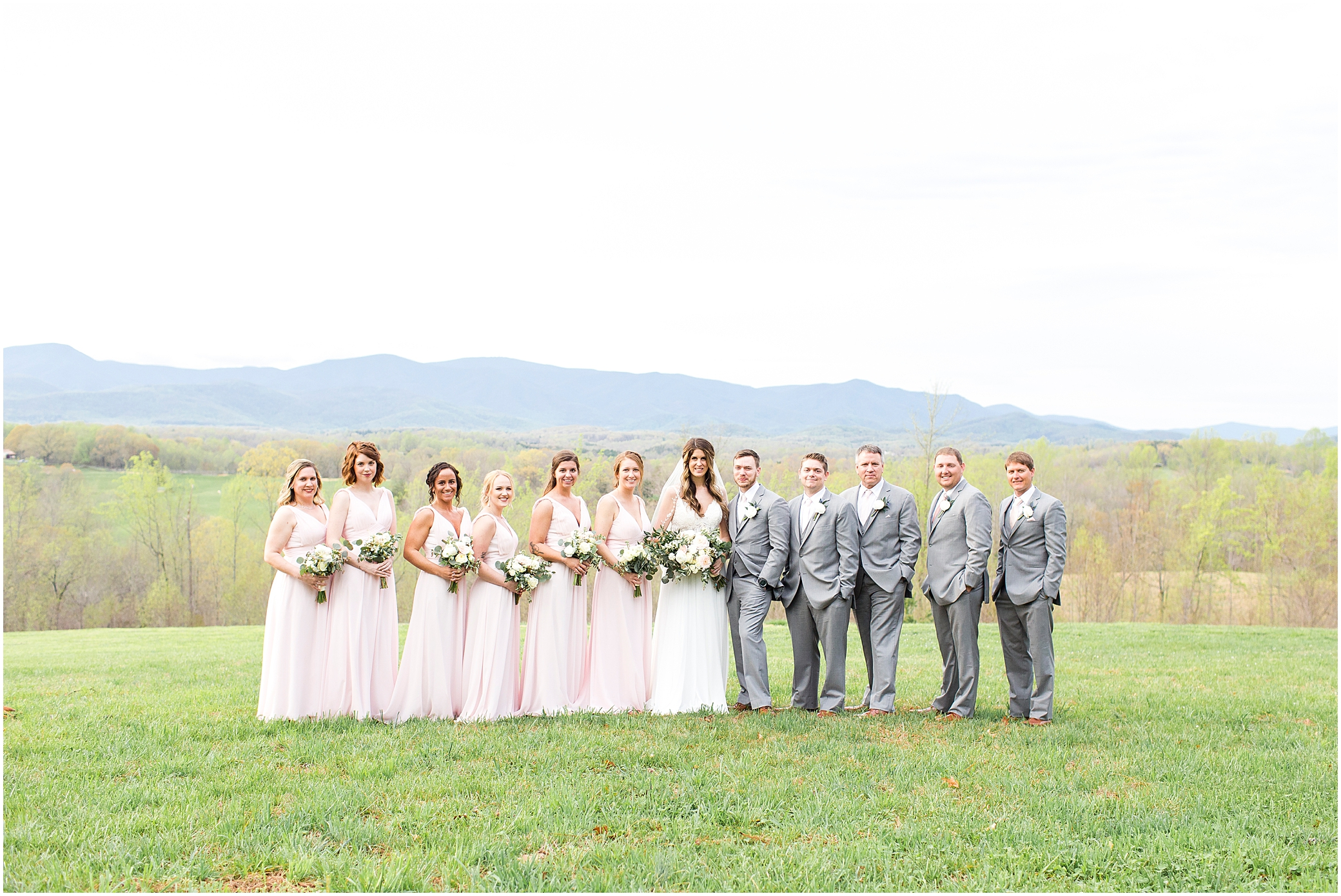 bridal party portrait at sierra vista wedding