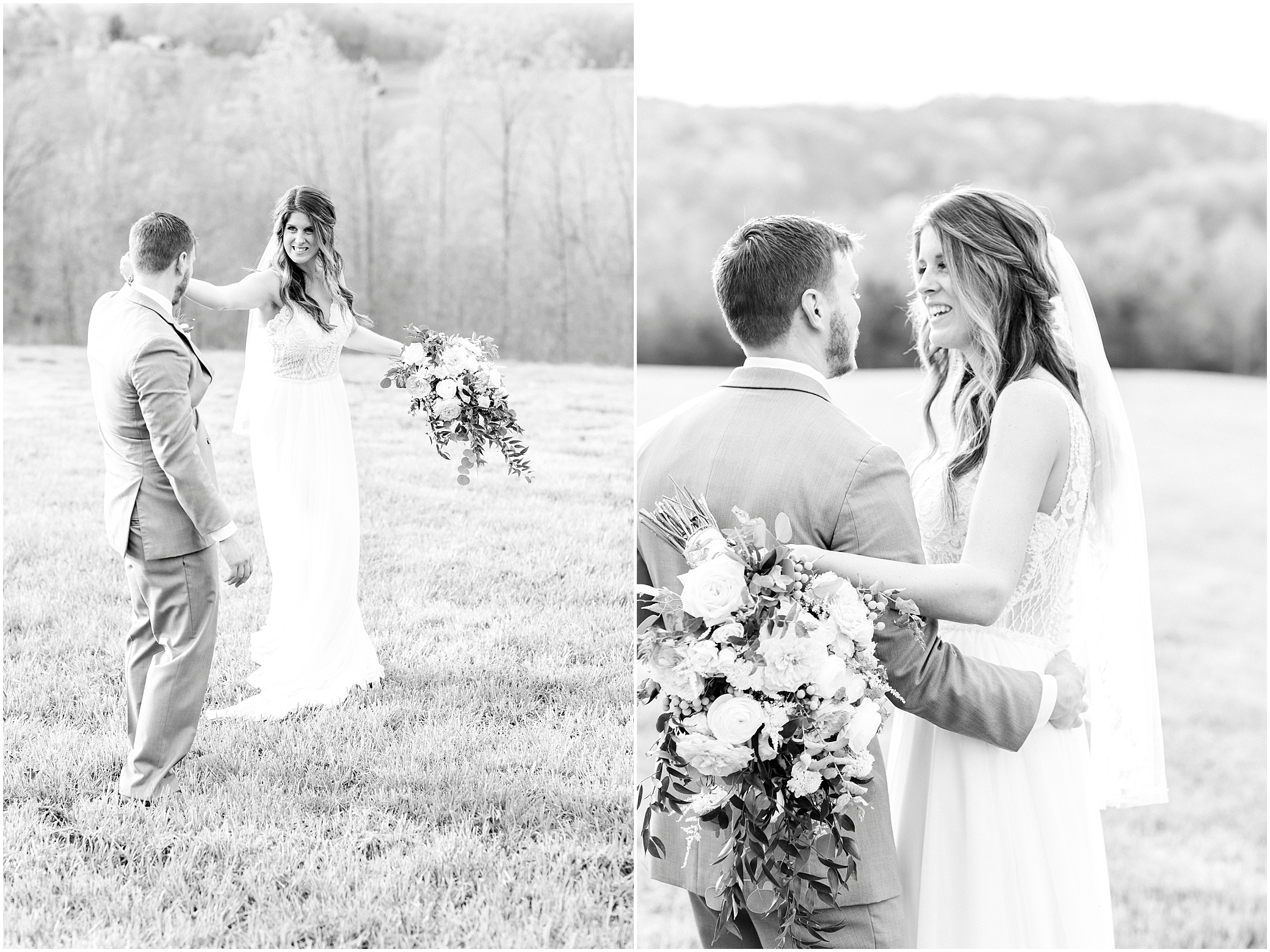 bride and groom dancing together in the field at sierra vista wedding