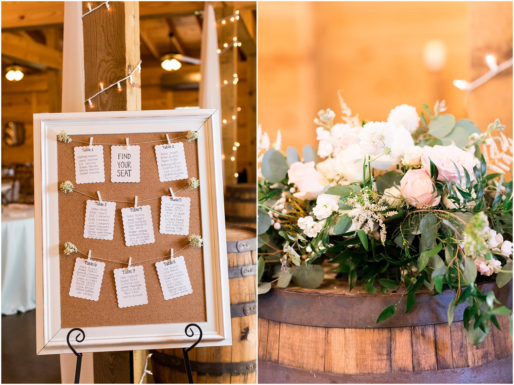 wedding reception decor at sierra vista wedding, bloom by doyle's