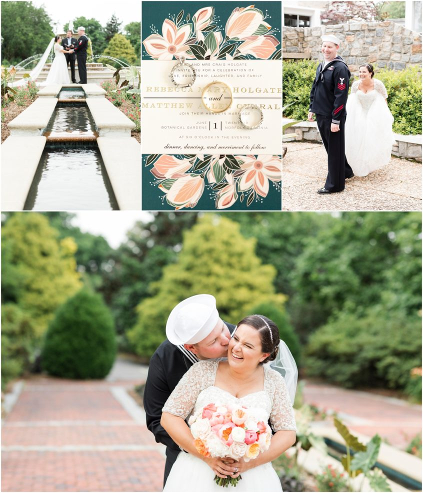 spring wedding at norfolk botanical gardens