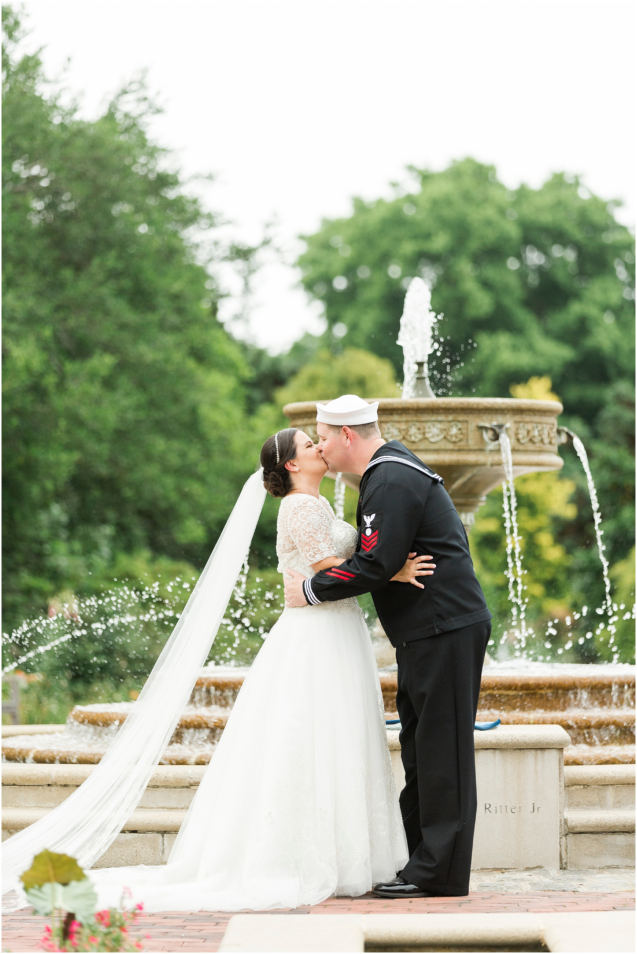 spring wedding day at the botanical gardens in Norfolk Virginia