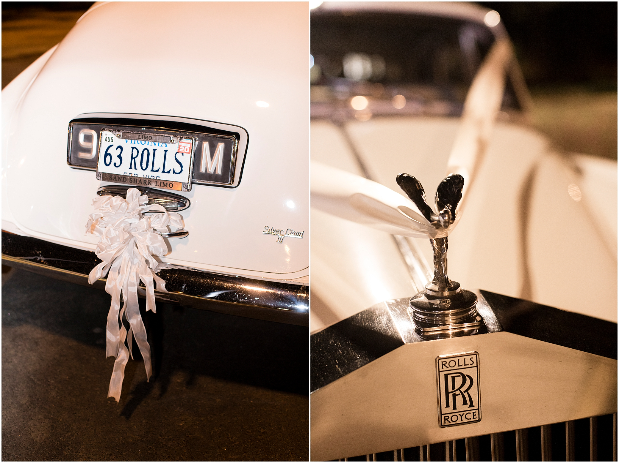 spring wedding day at the botanical gardens in Norfolk Virginia , rolls Royce wedding exit