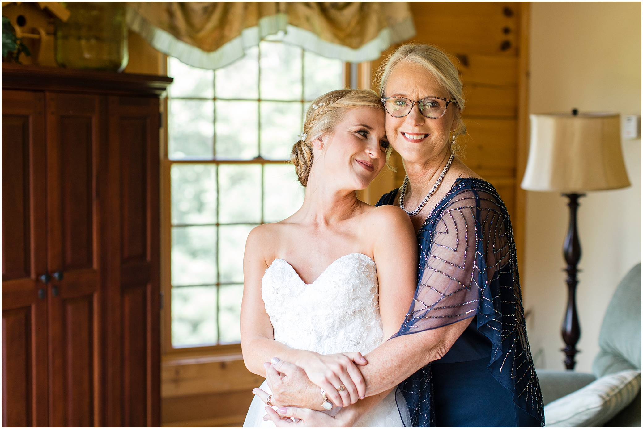 House Mountain Inn Wedding, Virginia wedding in the mountains, candid moment with bride and her mom