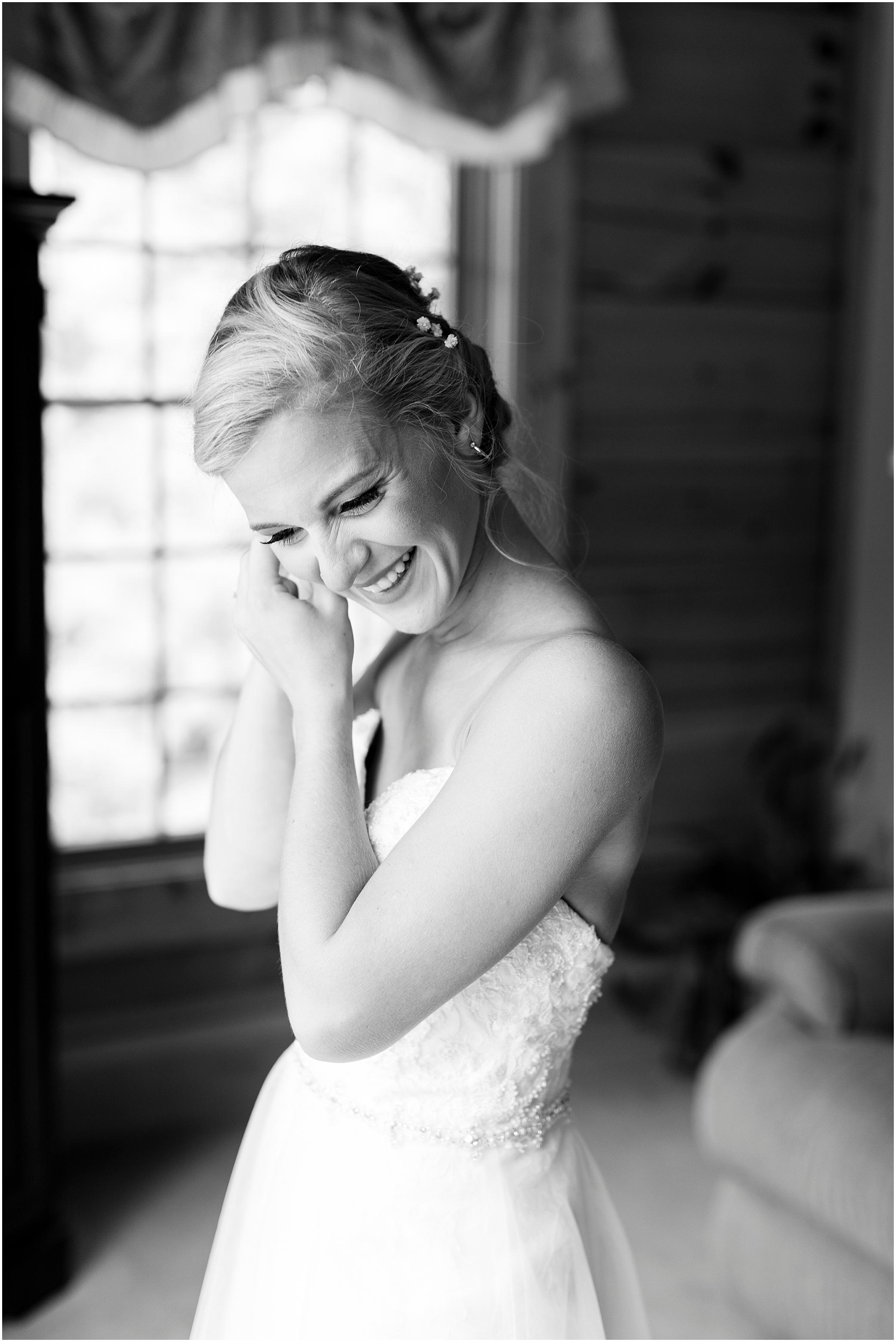 House Mountain Inn Wedding, Virginia wedding in the mountains, bride getting ready