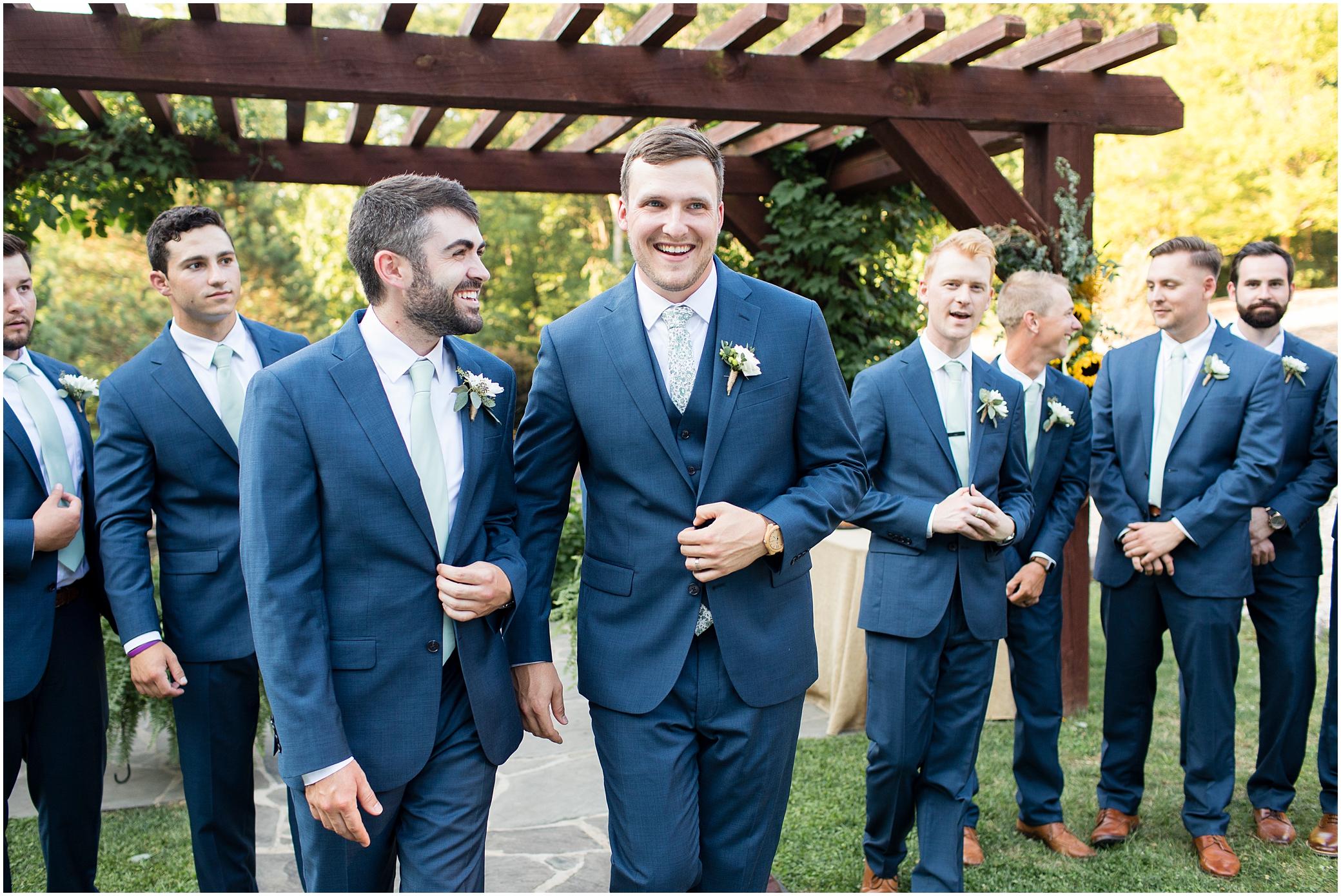 House Mountain Inn Wedding, Virginia wedding in the mountains, groomsmen