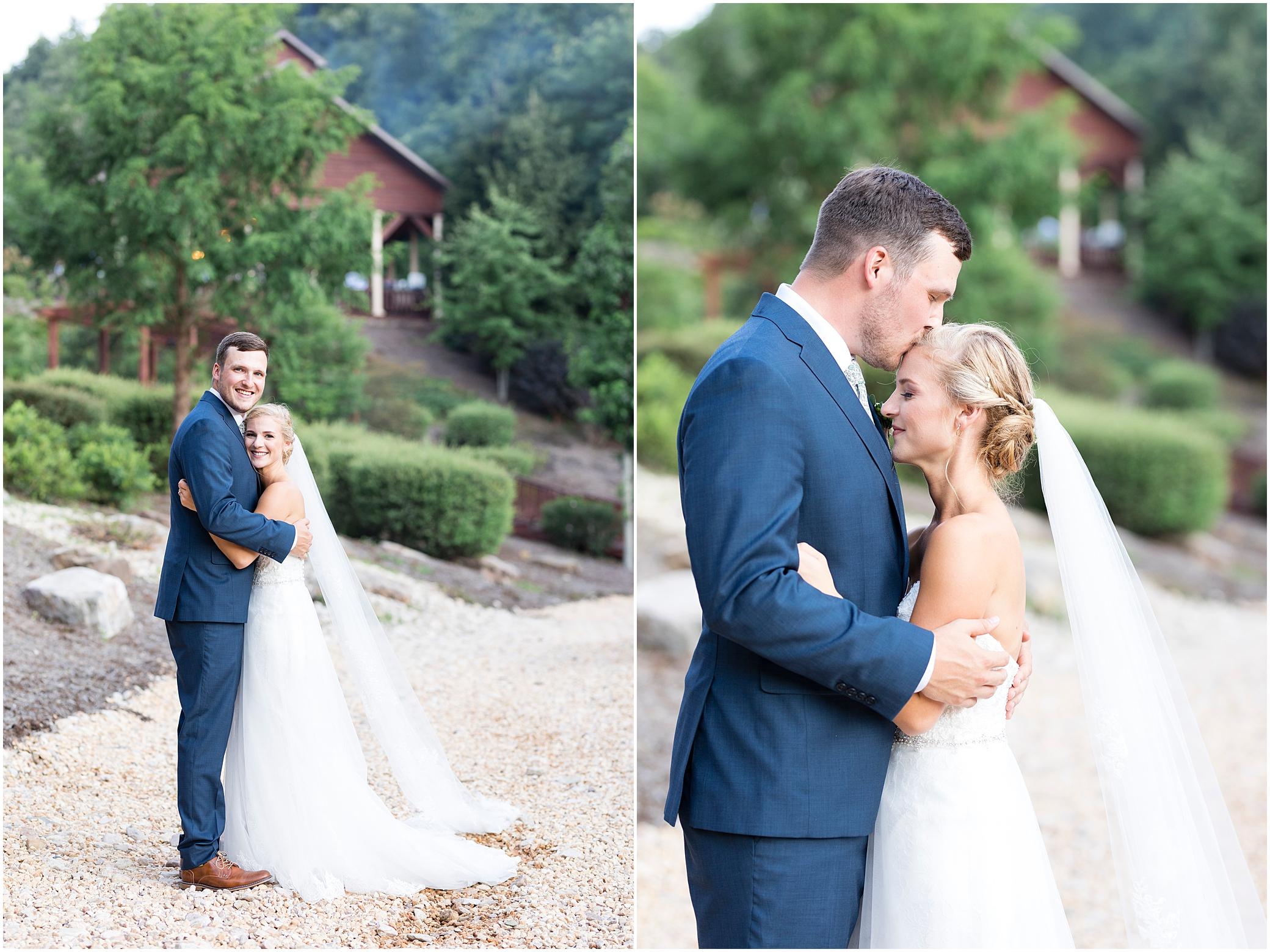 House Mountain Inn Wedding, Virginia wedding in the mountains, bride and groom portrait