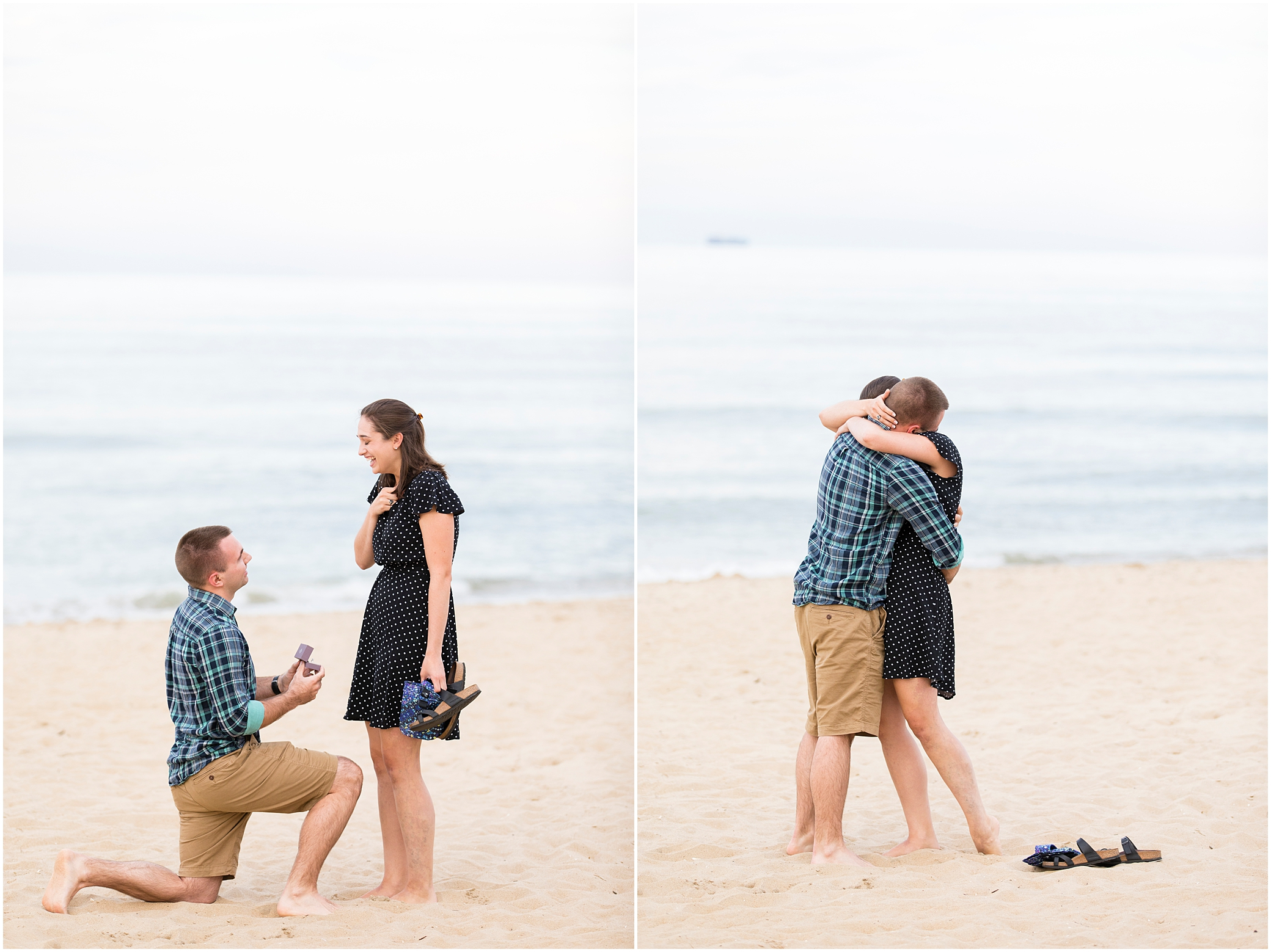 surprise beach proposal, virginia beach