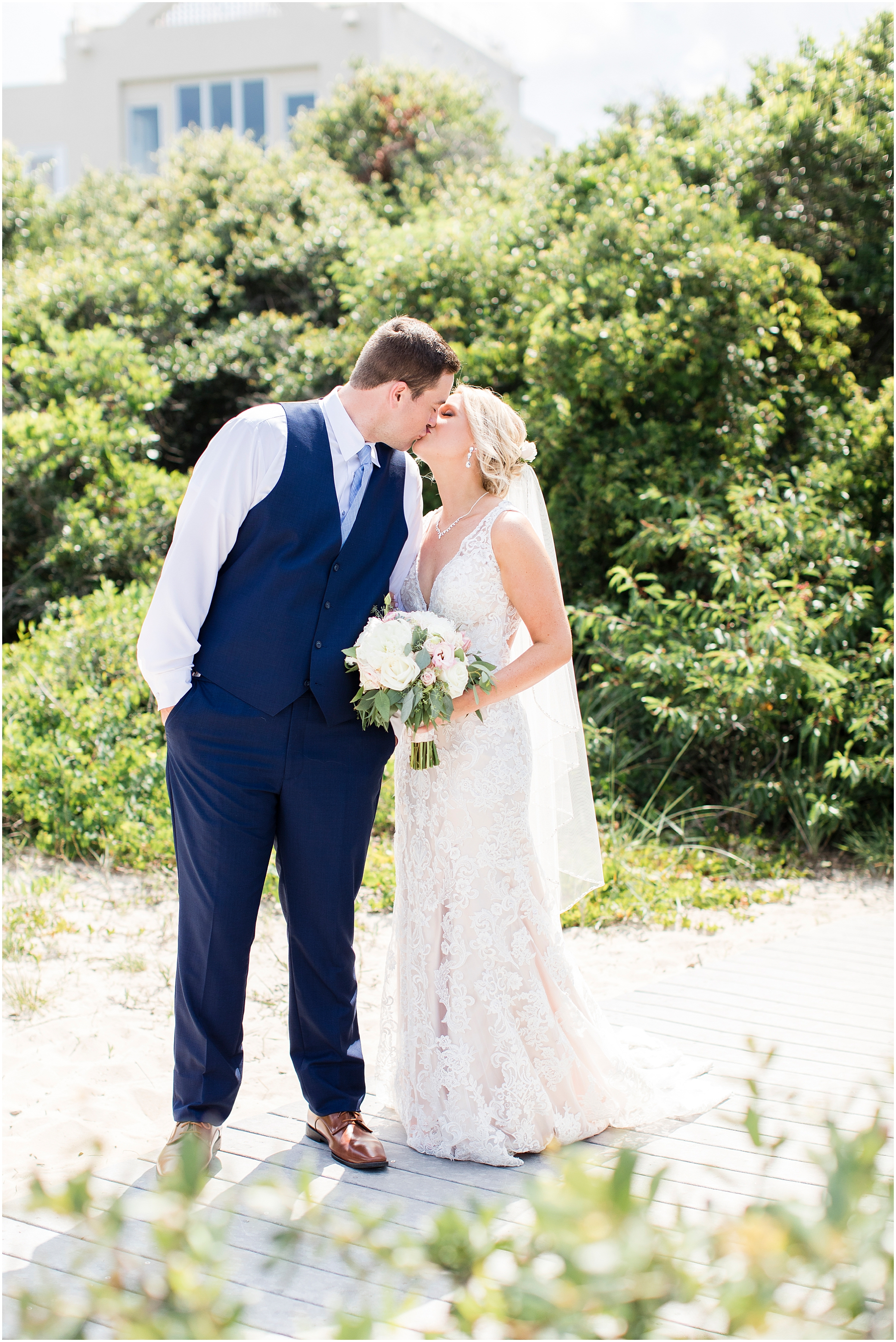 virginia beach wedding photography, bride and groom at the beach, north end beach