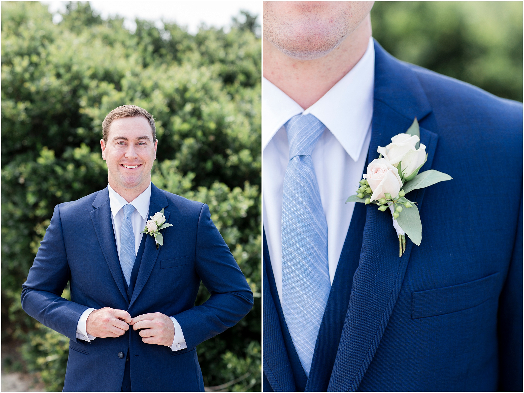 virginia beach wedding photography, groom at the beach