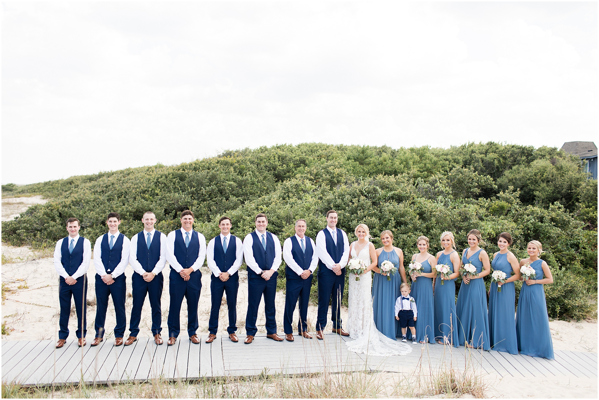 virginia beach wedding photography, bridal party at the beach,