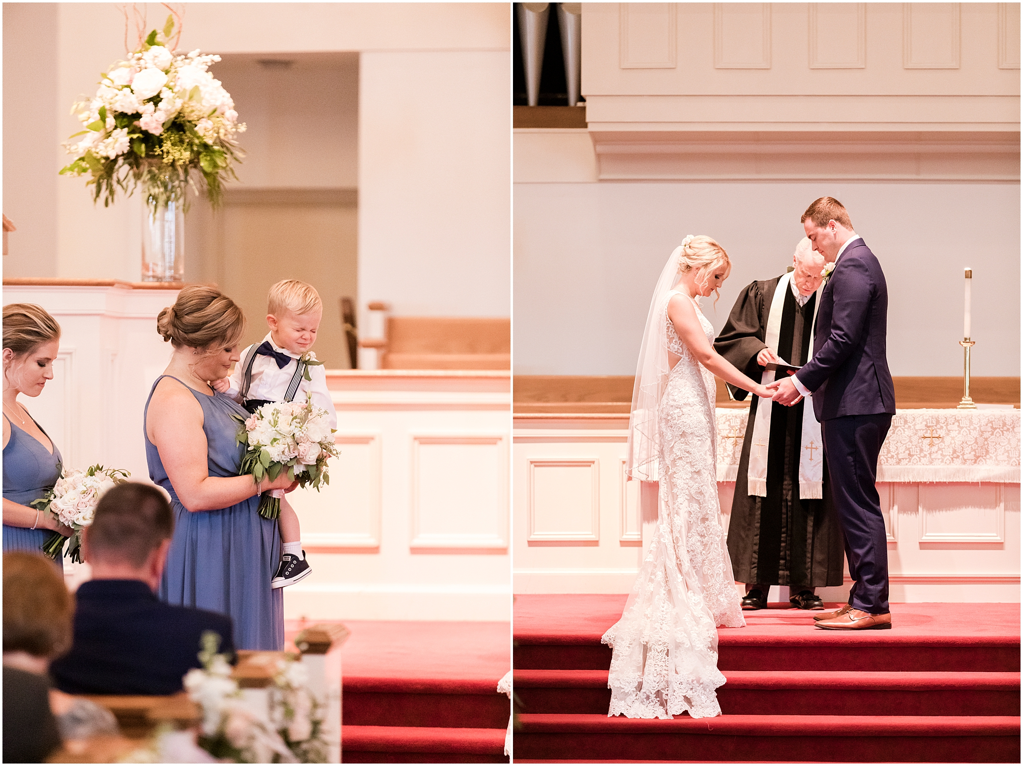 church wedding ceremony, virginia beach wedding photography, here and now bridal wedding dress, blush tones makeup, flawless on site hair stylist