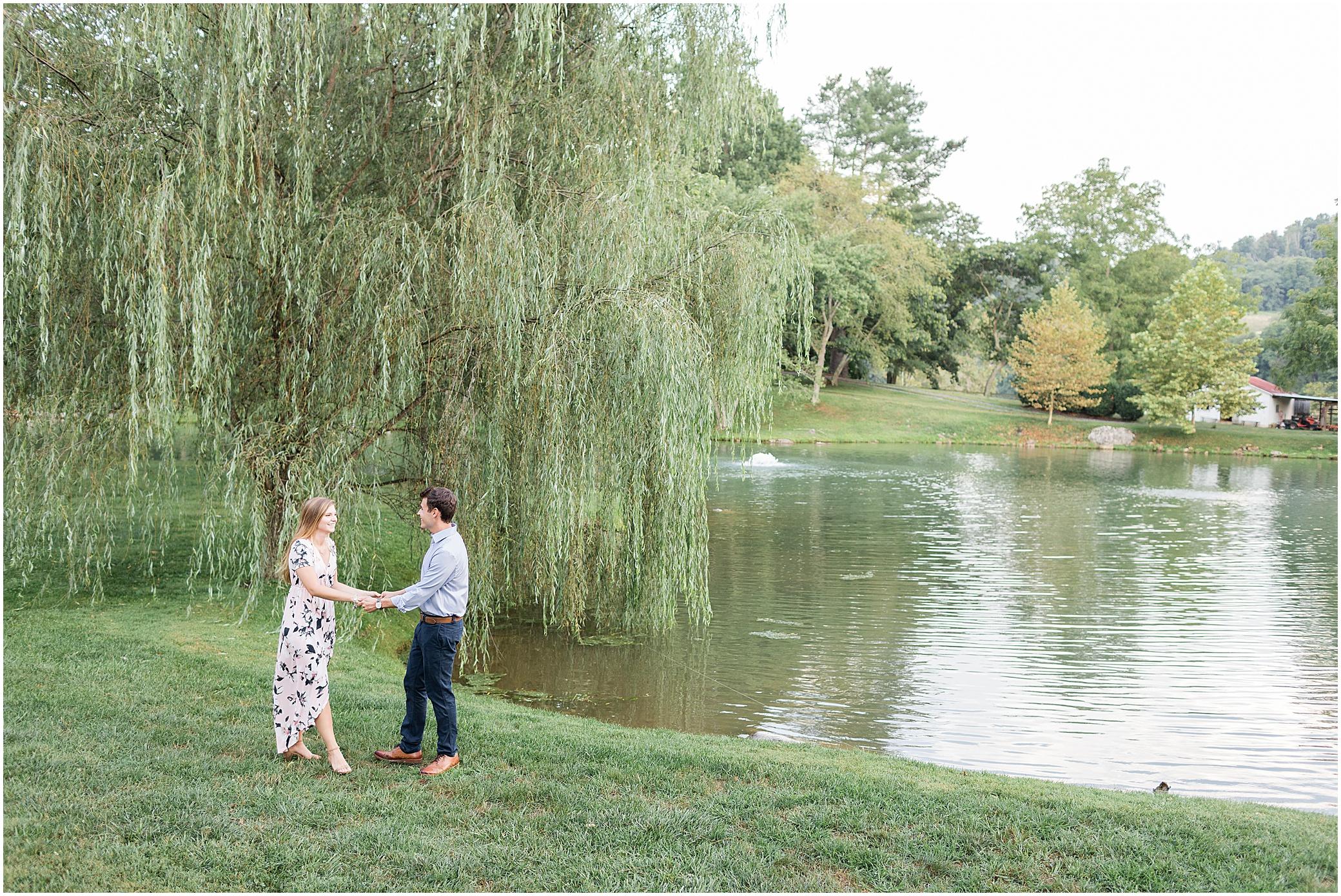 big spring farm engagement photography, Lexington, virginia