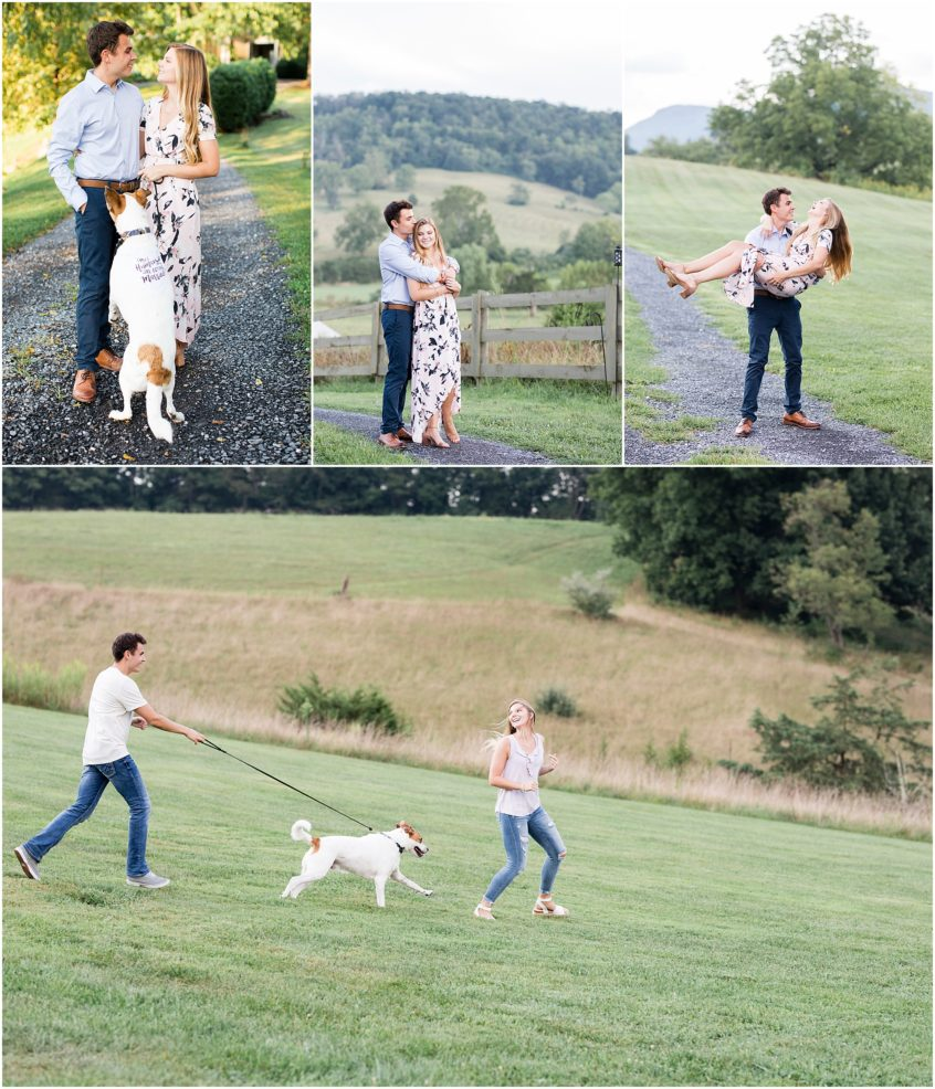 big spring farm engagement photography, Lexington, virginia