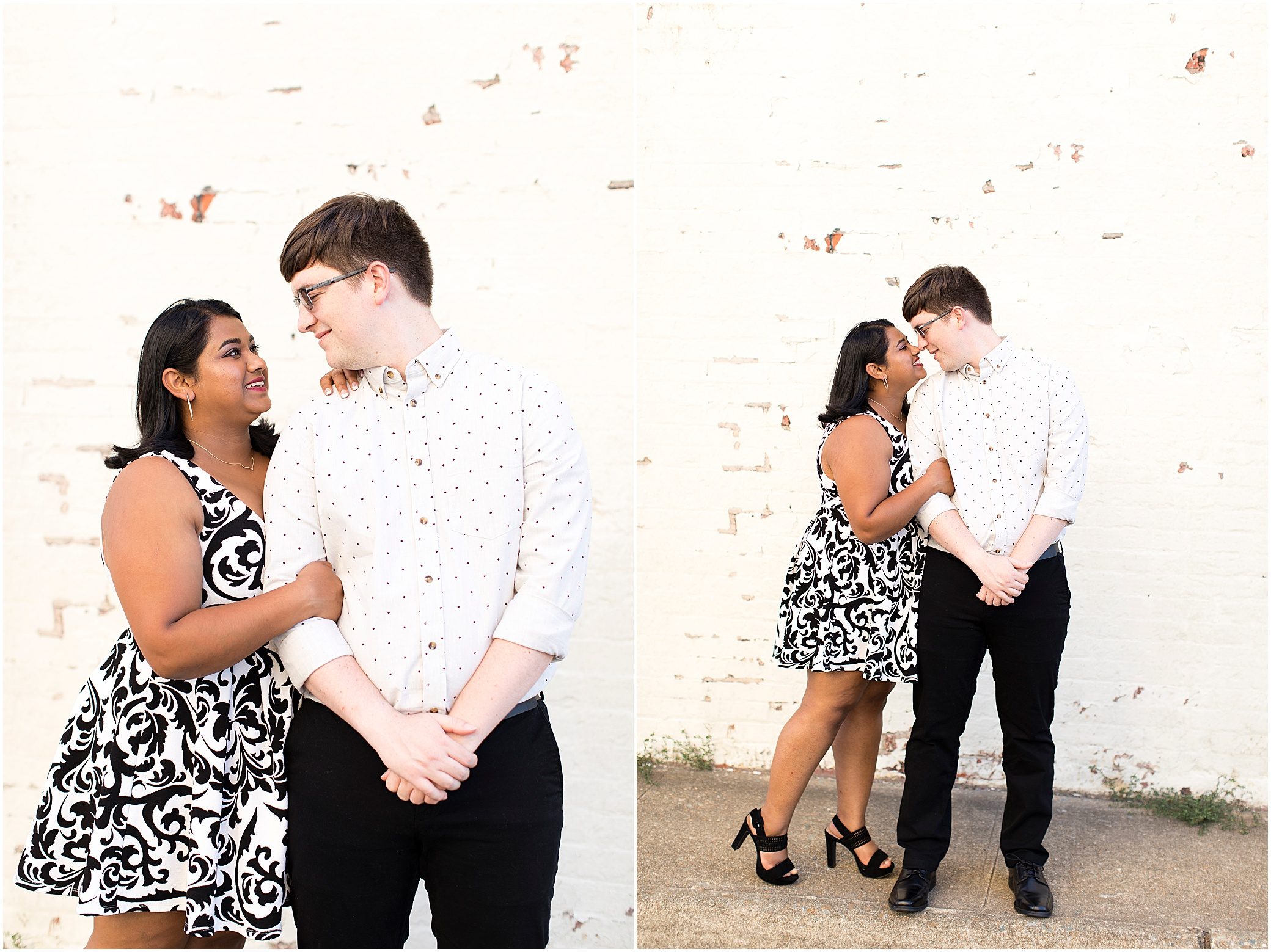 Hampton virginia engagement photography historic post office