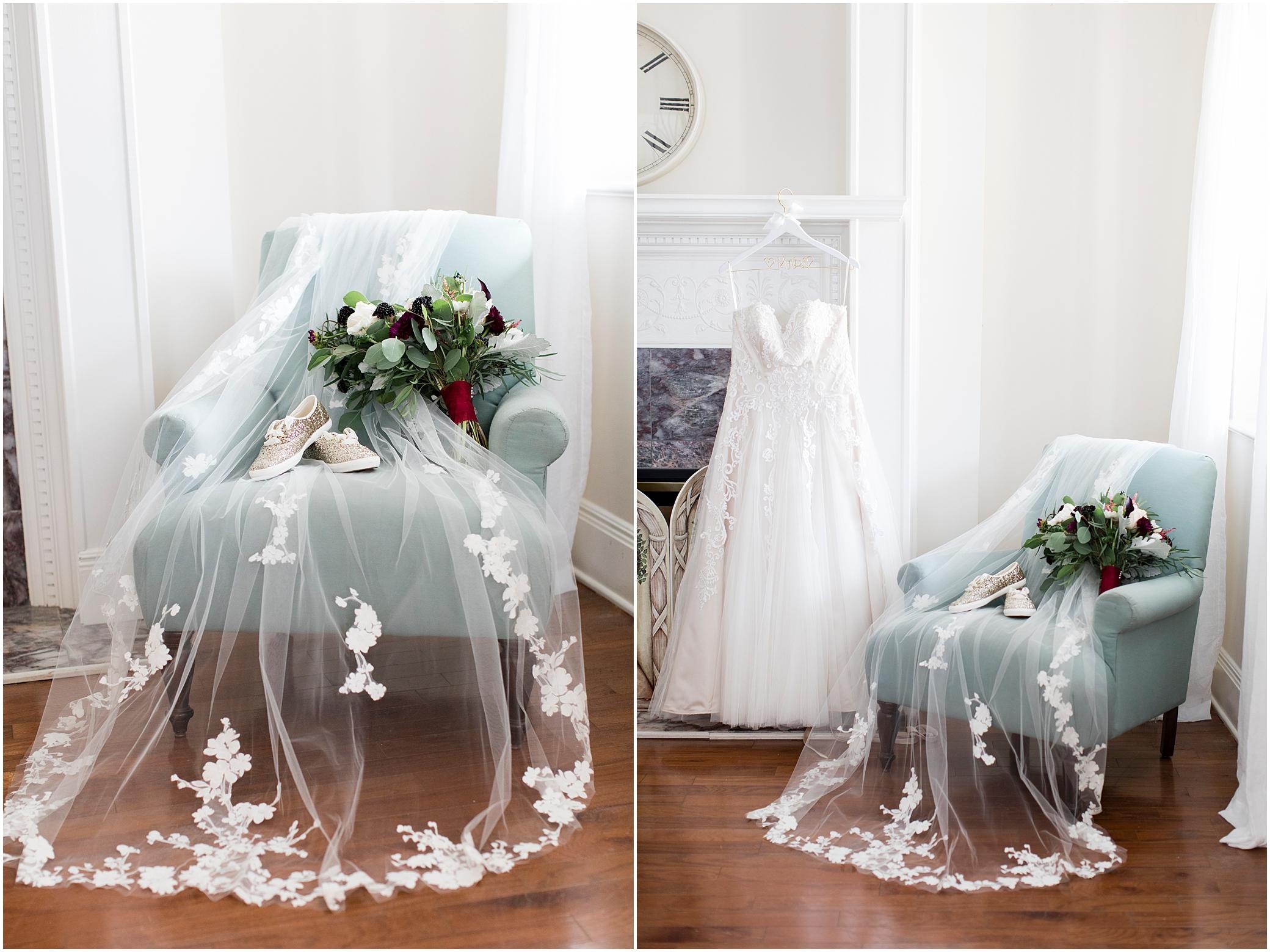 historic post office wedding bride details, ava clara bridal