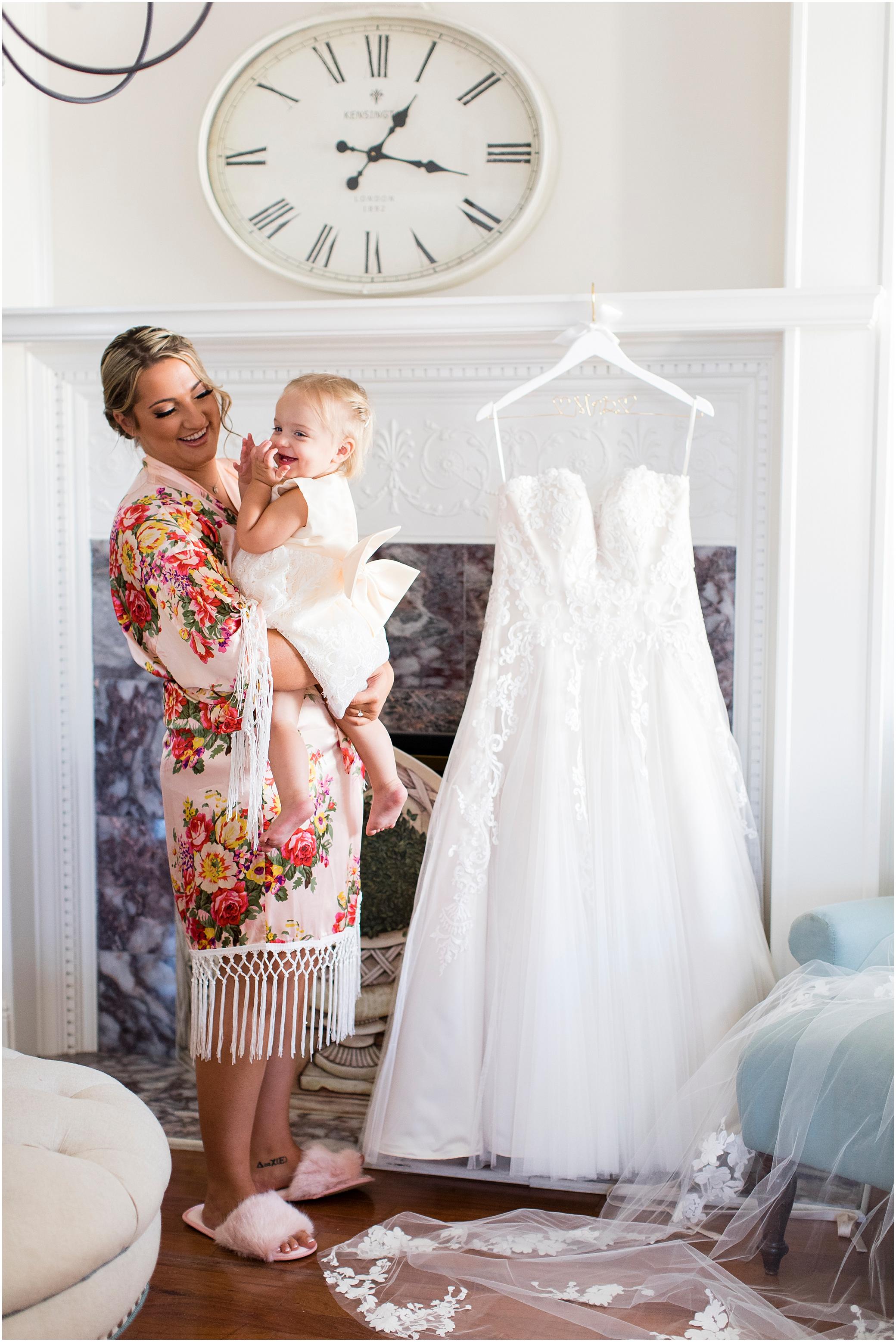 historic post office wedding bride getting ready